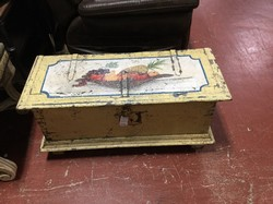 Hand Painted Yellow Nadeau Trunk