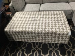 Beige Patterned Ottoman with Storage 48.25x29x20.50
